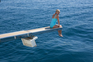 Naomi Watts/Diana sur le yacht de Dodi Al-Fayed