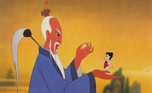 Le prince Nezha et son mentor, le génie
