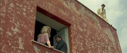 BB, Jack Palance et Michel Piccoli dans Le Mépris