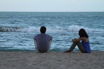 Joao Miguel et Hermila Guedes sur la plage de Recife