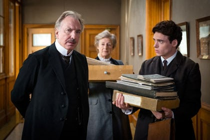 Alan Rickman, Maggie Steed et Richard Madden
