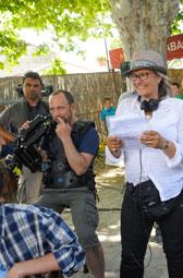 Roselyne Bosch réalisatrice de La Rafle, sur le tournage d'Avis de Mistral