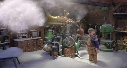 Le fameux canon à neige de l'ingénieux Feodor