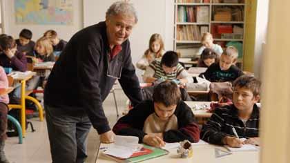 Jean-Michel Burel dans sa dernière classe