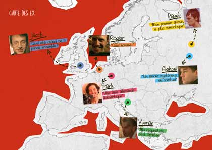 La carte des ex de Tatjana Bozic dans Happily ever after