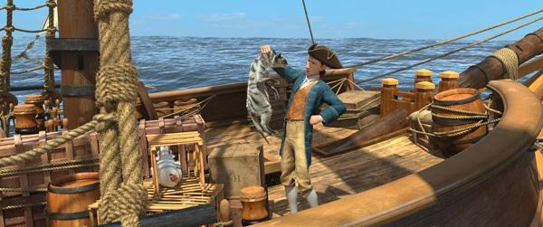 Robinson Crusoe sur le bateau de pirates