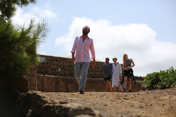 Ralph Fiennes, Matthias Schoenaerts, Tilda Switon et Dakota Johnson dans A bigger Splash